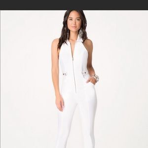 Bebe white jumpsuit